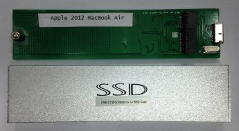 Внешний корпус SSD Sintech Electronic Apple 2012 MacBook Air to USB3.0, Серебристый (PA-U3MC2012)