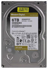 "Жесткий диск 6Tb SATA Western Digital Gold WD6003FRYZ 3.5"" 7200rpm 256Mb"