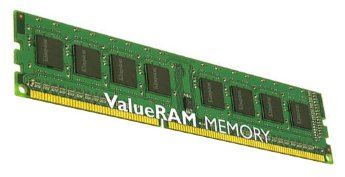 DDR3 4Gb  Kingston DIMM  PC3-10600 1333MHz (KVR1333D3N9/4G) 16 chip Low Profile