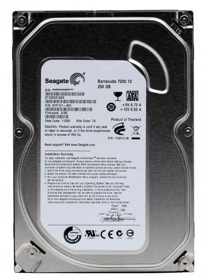 "Seagate ST3250312AS Barracuda 7200.12 250GB SATA 3.5/"" Internal Hard Drive"