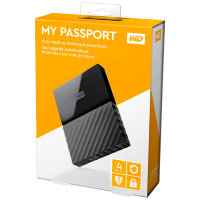 Внешний жесткий диск 4Tb Western Digital My Passport WDBUAX0040BBK