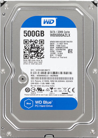 Жесткий диск 500Gb SATA Western Digital Blue WD5000AZLX 3.5""