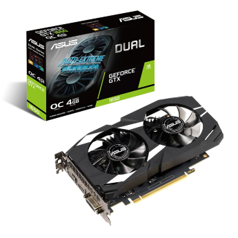Видеокарта ASUS GeForce GTX 1650 PCI-E 3.0 4096Mb DUAL-GTX1650-4G