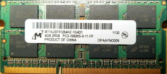 Оперативная память 4Gb Micron MT16JSF51264HZ-1G4D1 DDR3 1333 SO-DIMM 16chip