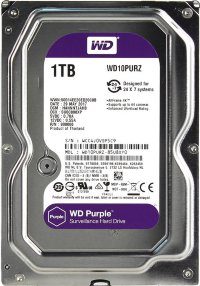 "Жесткий диск 1Tb SATA Western Digital Purple WD10PURZ 3.5"" 64Mb"