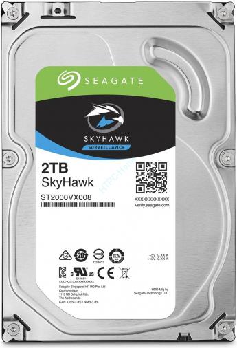 """Жесткий диск 2Tb SATA Seagate SkyHawk ST2000VX008 3.5"""" 64Mb,  купить по цене 5 200 руб. в интернет-магазине HTPC-Home.ru"""