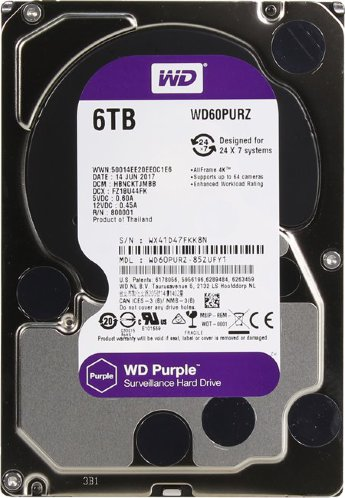 Жесткий диск 6TB Western Digital Purple WD60PURZ 3.5""
