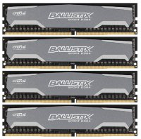 32Gb Crucial Ballistix Sport < BLS4C8G4D240FSA > DDR4 DIMM 32Gb KIT 4*8Gb < PC4-19200 > CL16
