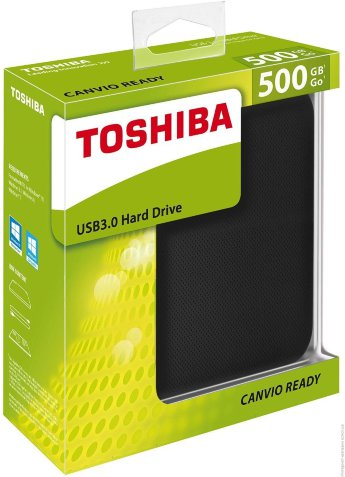 Внешний жесткий диск 500Gb Toshiba Canvio Ready HDTP205EK3AA Black USB3.0
