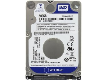 "500 Gb SATA 6Gb / s Western Digital Blue < WD5000LPCX > 2.5"" 5400 rpm 16Mb"