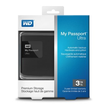 Жесткий диск 3Tb WD WDBNFV0030BBK-EEUE My Passport Ultra USB3.0 Black 2.5""
