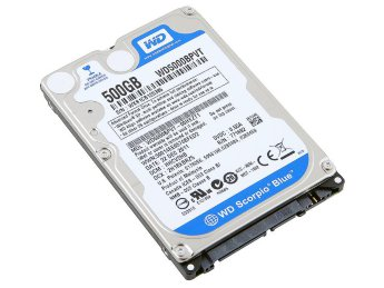 "500Gb SATA-II 300 Western Digital Scorpio Blue WD5000BPVT 2.5"" 5400rpm 8Mb"