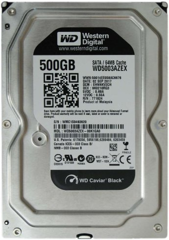 Жесткий диск 500Gb Western Digital Black WD5003AZEX