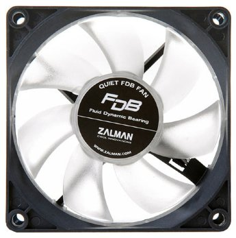 ZALMAN < ZM-F1 FDB > Fan for m / tower (3пин, 80x80x25mm, 18-23дБ, 1400-2000об / мин)