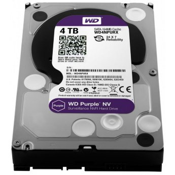 "4 Tb SATA 6Gb / s Western Digital Purple NV < WD4NPURX > 3.5"" 64Mb"