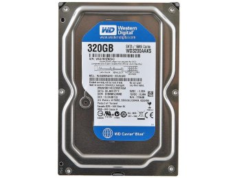 "320 Gb SATA-II 300 Western Digital Caviar Blue WD3200AAKS 3.5"" 7200rpm 16Mb"