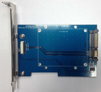 Sintech Electronic Apple SSD LIF 24 Pin to SATA 22 Pin with bracket (PA-CB968FB)