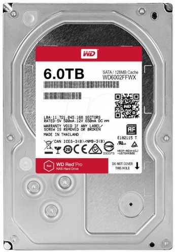 "Жесткий диск 6Tb Western Digital Red Pro WD6002FFWX 3.5"" 7200rpm 128Mb"
