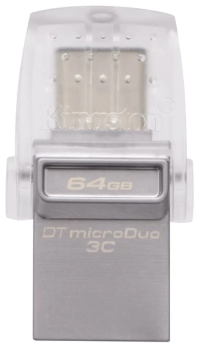 USB Flash drive Kingston DataTraveler MicroDuo 3C 64 GB, цвет серебряный